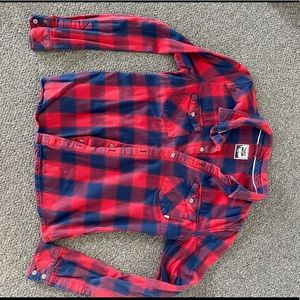 TNA flannel button-up, classic fit